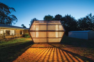 The small-scale gallery enlivens the back garden of a house in central Victoria.
