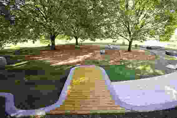 Fawkner Park toddler play space by City of Melbourne.