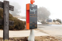 Falls Creek wayfinding signage by Büro North