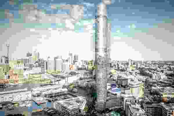 The proposed tower at The Star Sydney by FJMT.