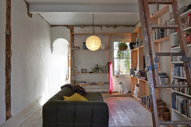 Doll's House is a reworking of an old, tiny worker's cottage; a ladder leads to an original loft.