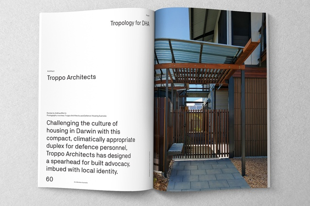 Tropology for DHA designed by Troppo Architects.