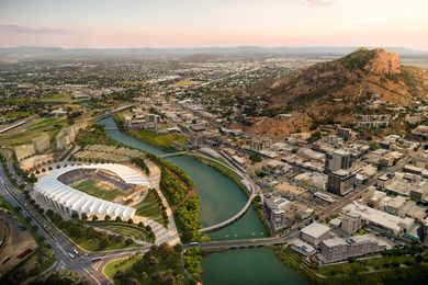 The proposed North Queensland Stadium designed by Cox Architecture and 9Point9 Architects will feature a roof inspired by the Pandanus plant.