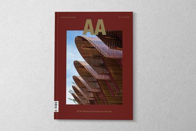 Architecture Australia November/December 2018. Image: Michael Nicholson