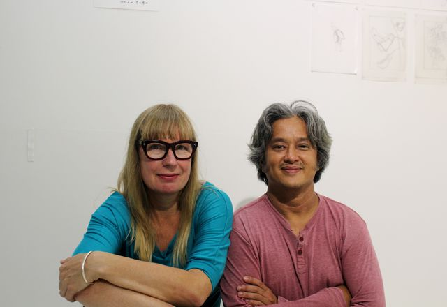 Claire Healy and Sean Cordeiro, the designers of the Tower of Power.