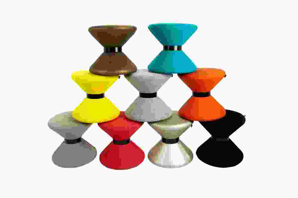 Drum stool now available with Kvadrat upholstery.