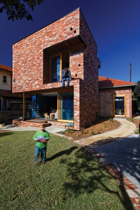 "Ilma Grove (2010): bricks from the existing house were used to construct a ""robust box."""