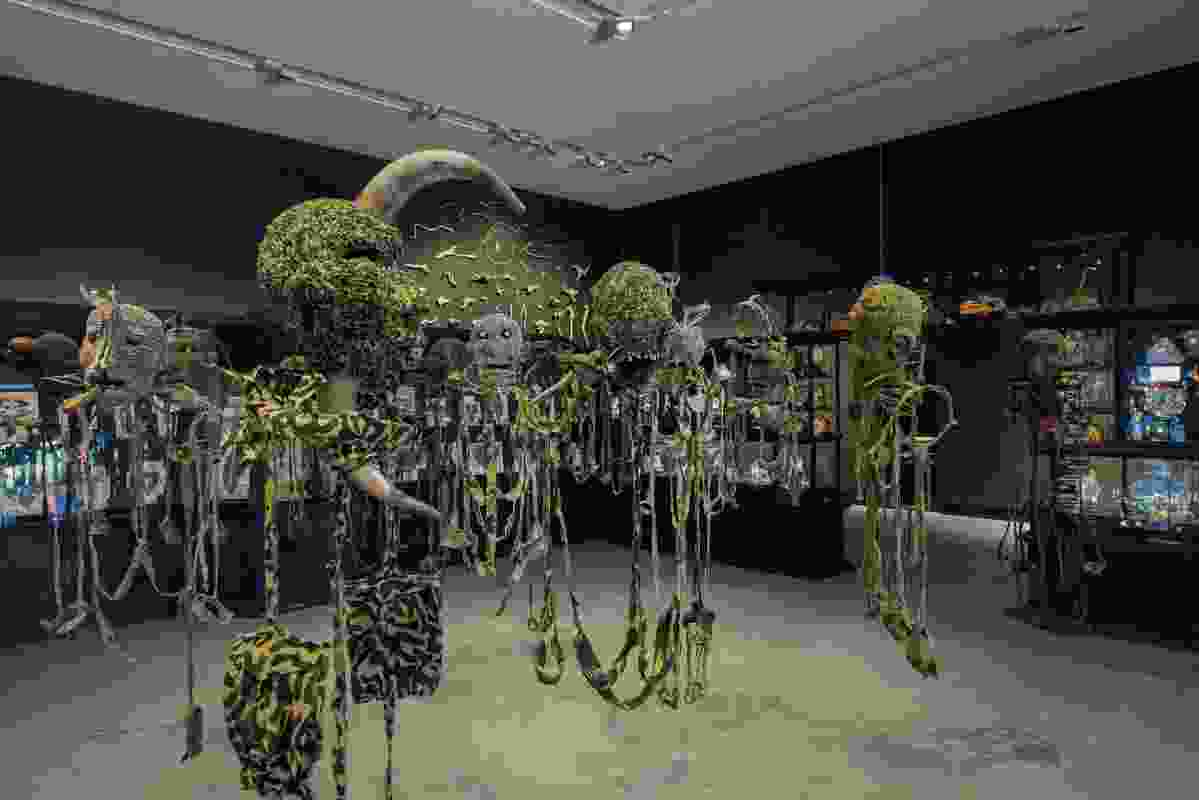 "The installation's ""inner sanctum"" displays All the King's Men, a collection that considers the meaning of military camouflage in modern-day warfare."