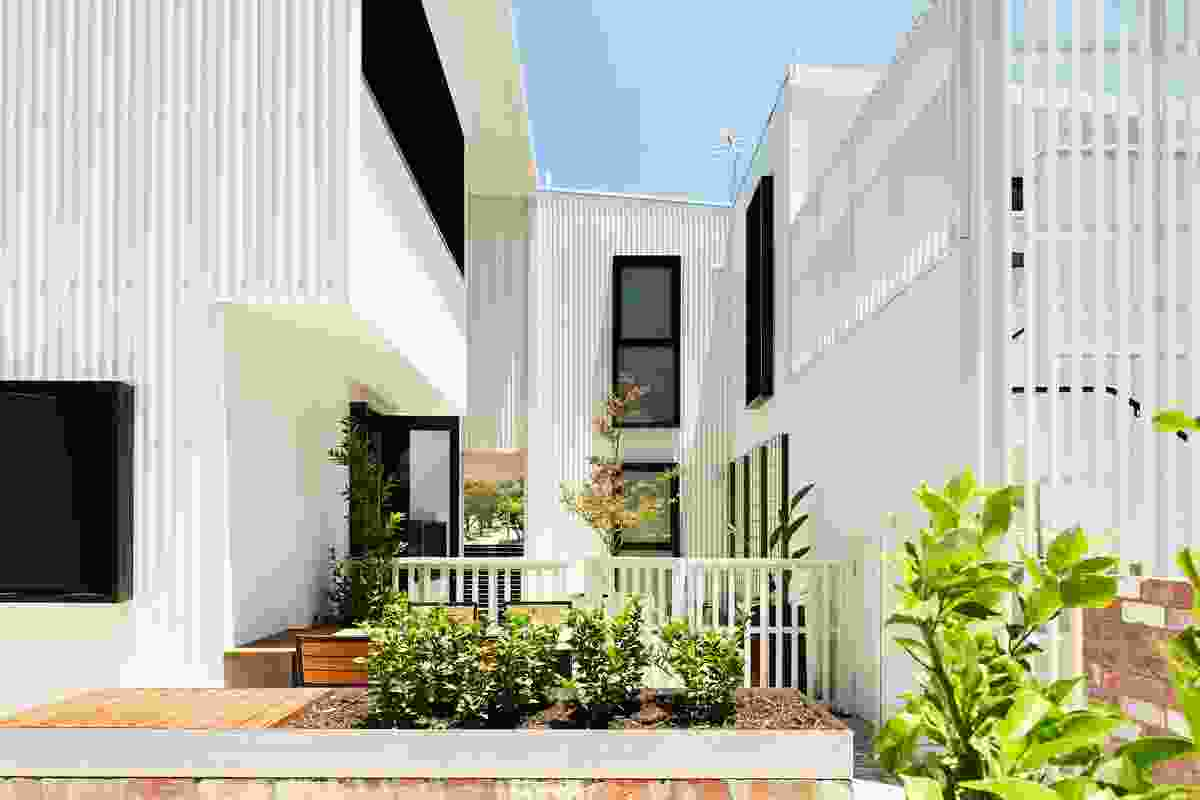 Each apartment in the Gen Y Demonstration Housing Project designed by David Barr Architect has access to private outdoor space as well as communal outdoor space.