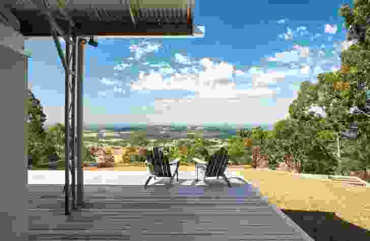 The large gable over the verandah provides a sheltered place to gaze into the horizon.