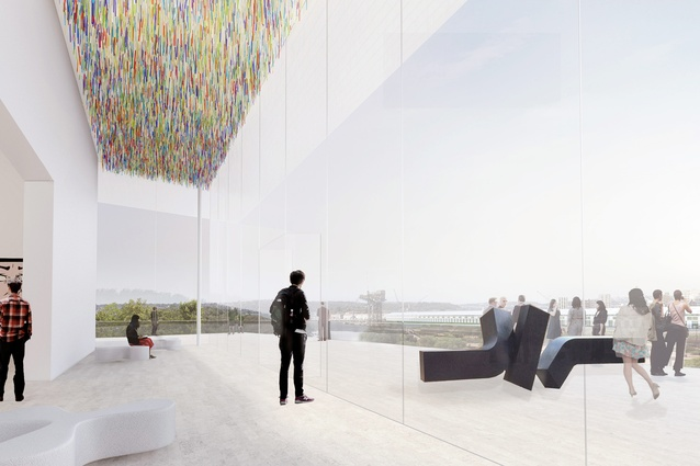 The pavilions complement the existing gallery building.