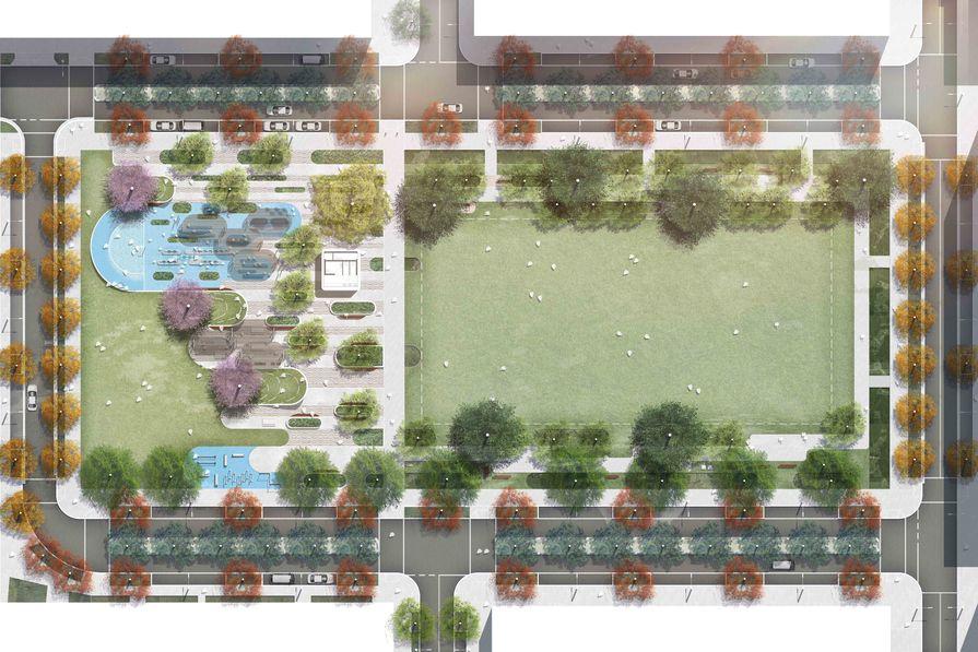 A plan of Garraway Park designed by Oculus.