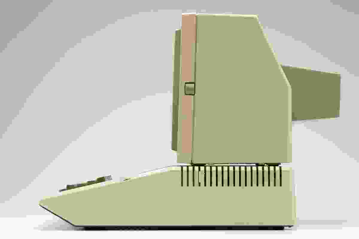 Apple II computer (1977) designed by Steve Wozniak and Jerry Manock.