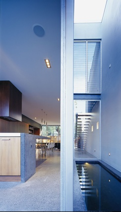 The 'public' ground floor of the house boasts an expansive sense of transparency.
