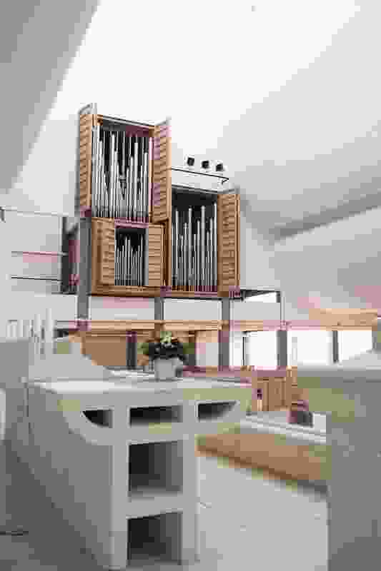 Utzon designed all elements of the building, including the organ and furniture.
