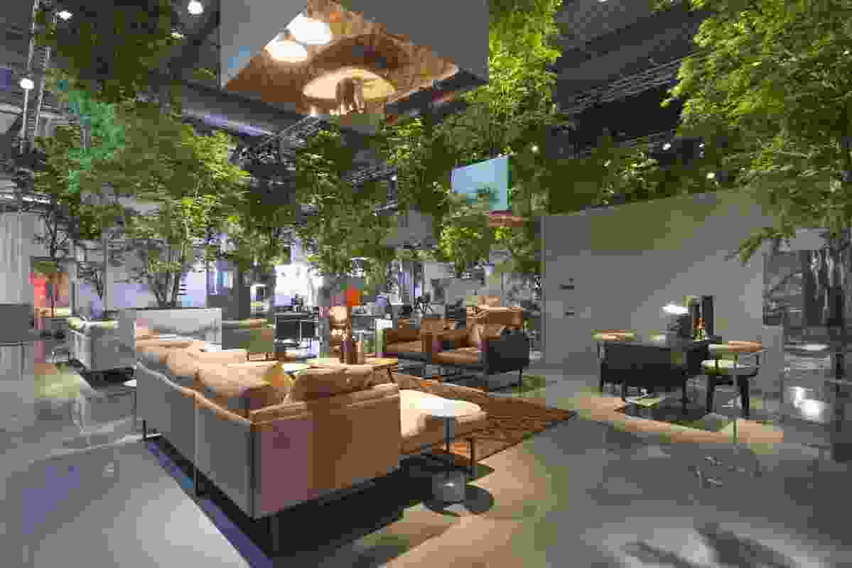 Floating Forest installation for Cassina at 2014 Milan Furniture Fair.