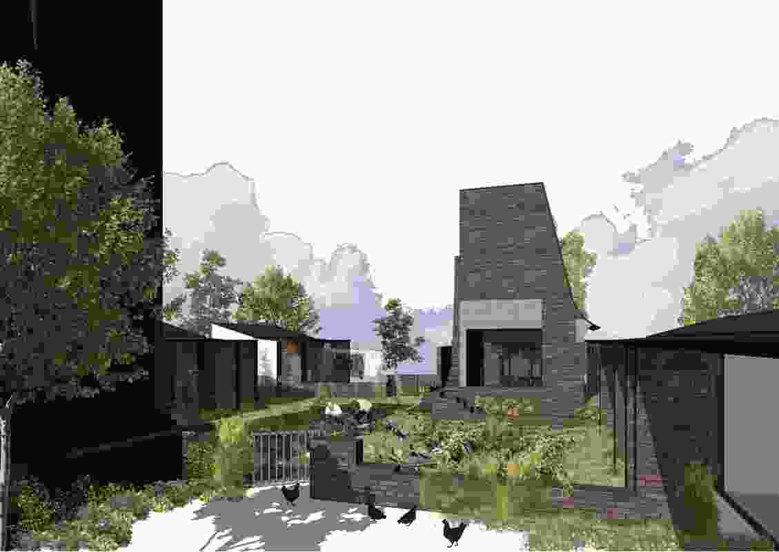 Suburban Garden House by Owen and Vokes.