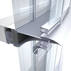 An aluminium walkway between the skins allows air movement in the cavity.