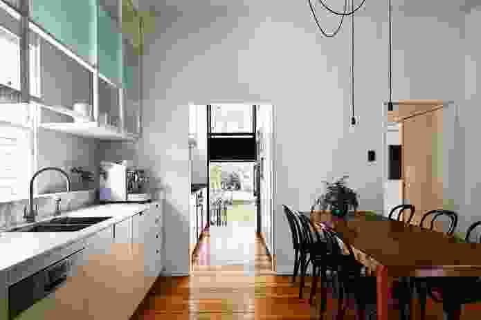 The dine-in kitchen, lit by plenty of daylight, is the hub of family life and serves as a flexible multi-tasking area.