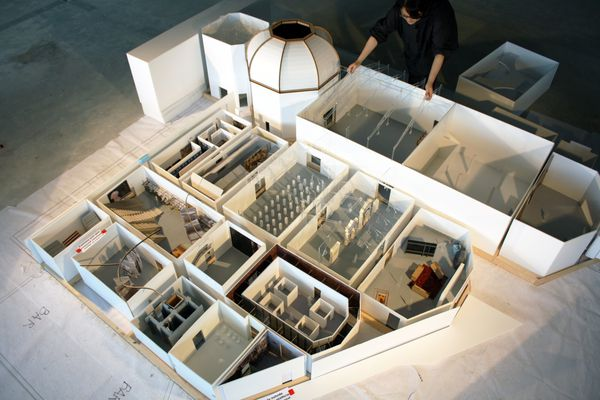 A model of the Giardini's Central Pavilion, venue for the Elements of Architecture exhibition.