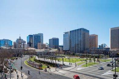 Victoria Square/ Tarntanyangga Urban Regeneration Project by TCL (Taylor Cullity Lethlean).