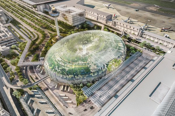 Safdie Architects' proposed new design for Jewel Changi Airport, based on a torus.