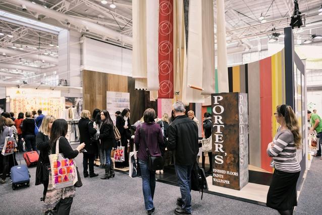 Designex show floor Porters Paints stand.