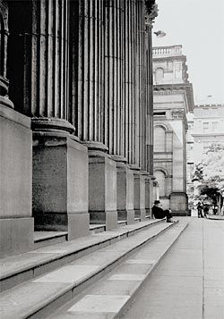 On the Public Library Steps, 1956.
