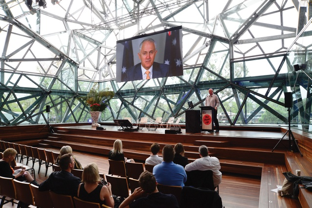 Australia's prime minister Malcolm Turnbull opened the conference via video.