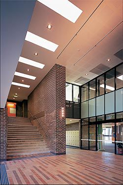 Interior view of the Queen Street entry to the library.Image: Tyrone Brannigan