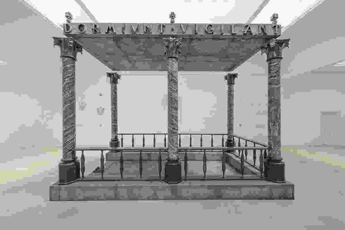 Burial crypt of Marshal Józef Piłsudski at Polish exhibition.