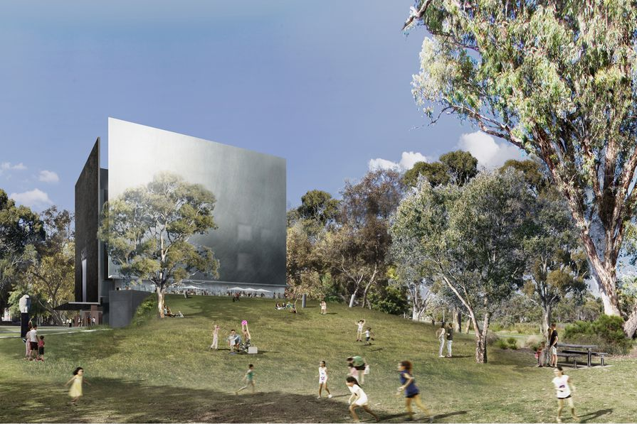 The winning design for the Shepparton Art Museum by Denton Corker Marshall.