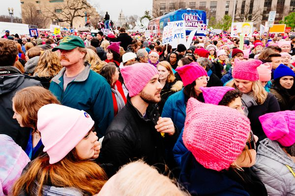 A scene from the Women's March on Washington, Washington DC, January 2017.