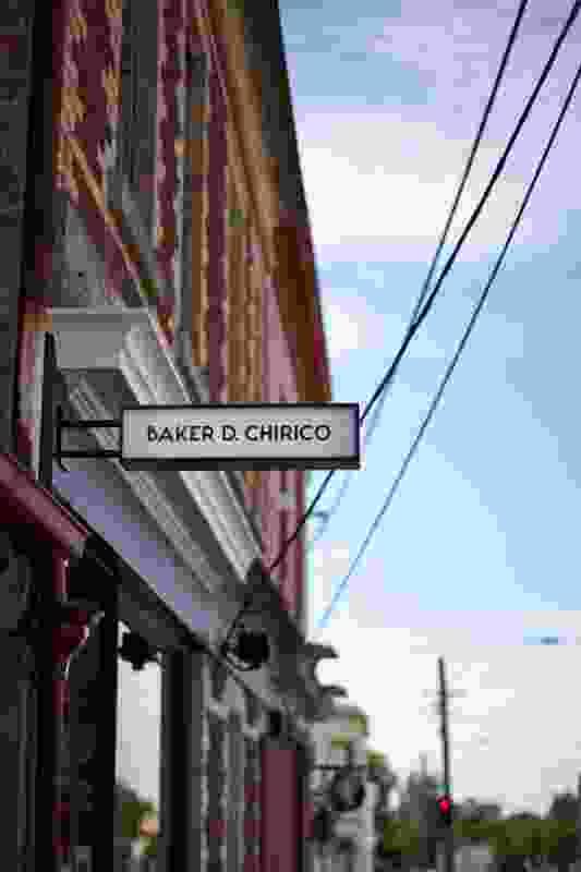 Baker D. Chirico's neon sign.