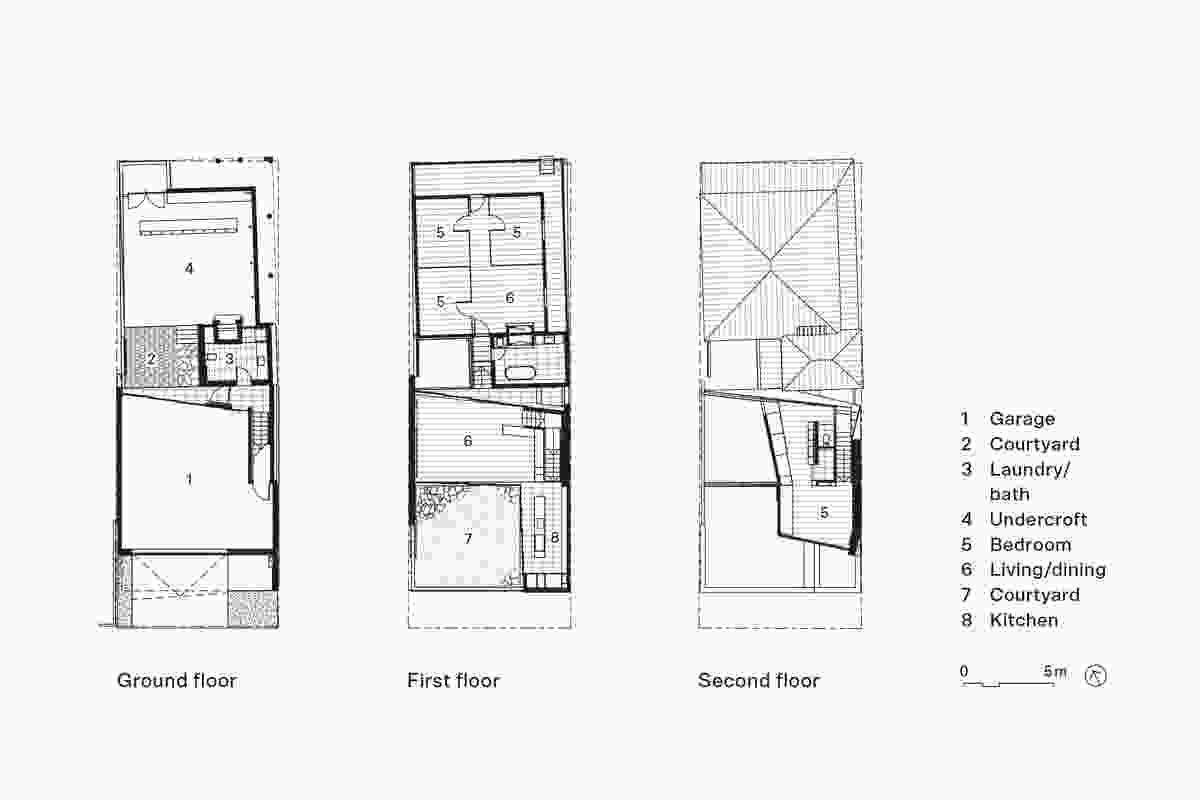 Plans of Albert Villa by Bureau Proberts.