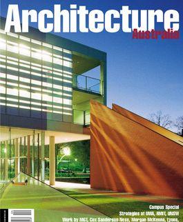 Architecture Australia, July 2001