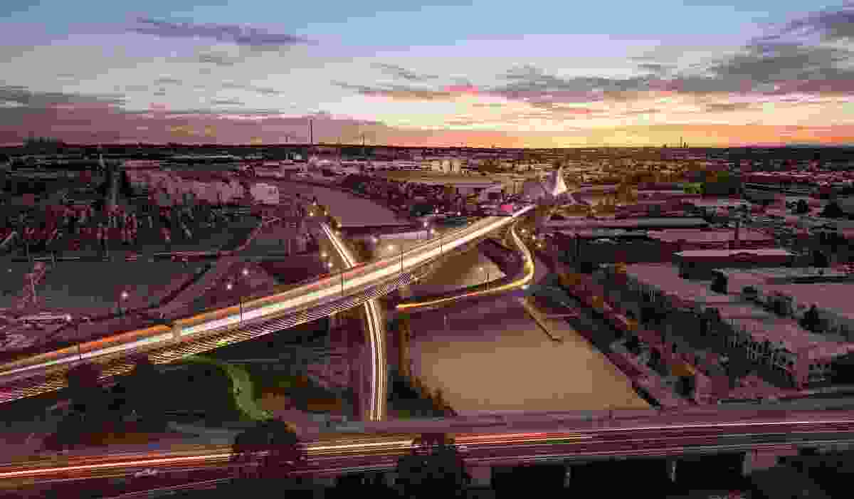 The West Gate Tunnel Project designed by Wood Marsh and Tract Consultants will include a section of elevated freeway.
