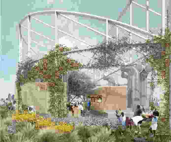 Walk Up Village proposal by 6A Architects and Dan Pearson Studio.
