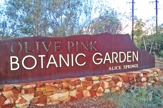Entrance to the Olive Pink Botanic Garden, Alice Springs, 2016.