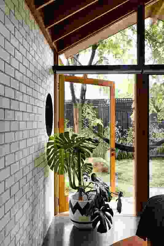 """Most rooms in the home face the """"wild"""" that replaced the previous lawn area."""