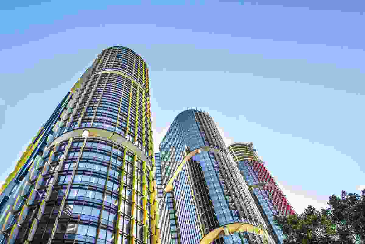 International Towers at Barangaroo by Rogers Stirk Harbour and Partners.