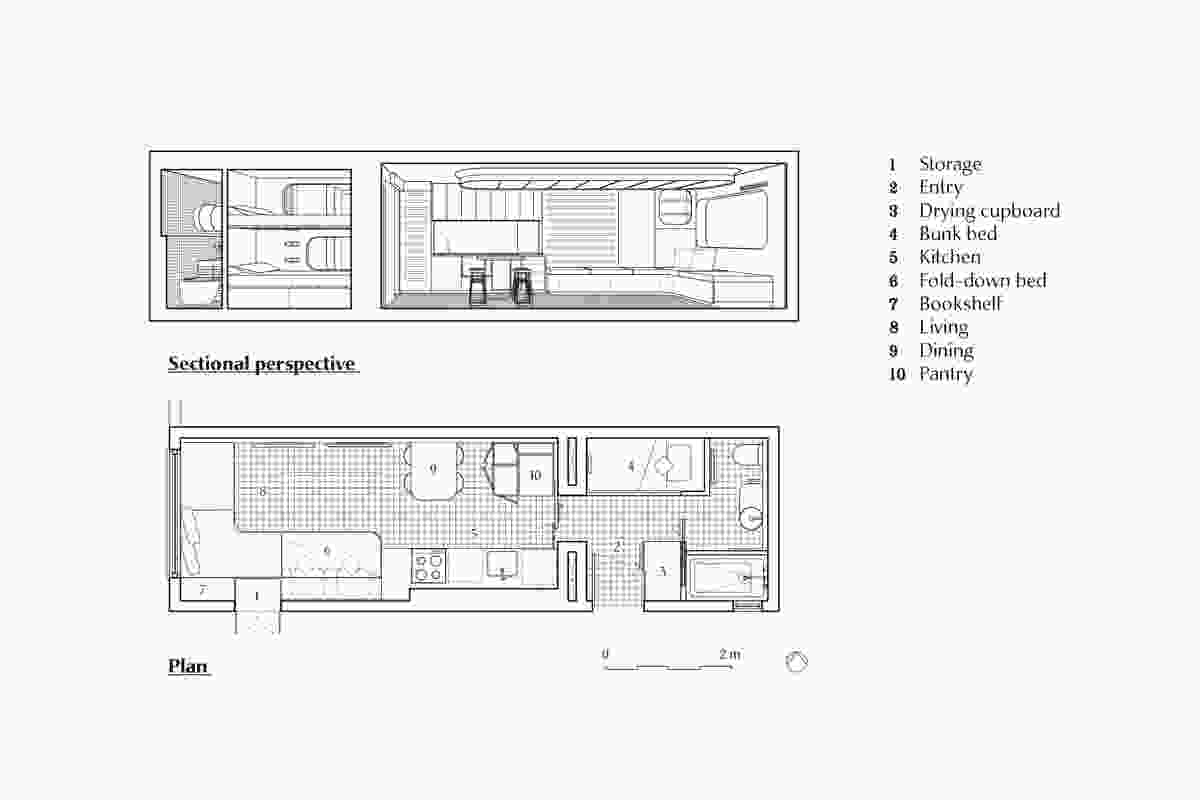 Sectional perspective and plan of Bobhubski by Marsh Studio.