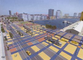Rendering of Harbour Esplanade, designed by ARM and Rush Wright Associates. Image Design Media.