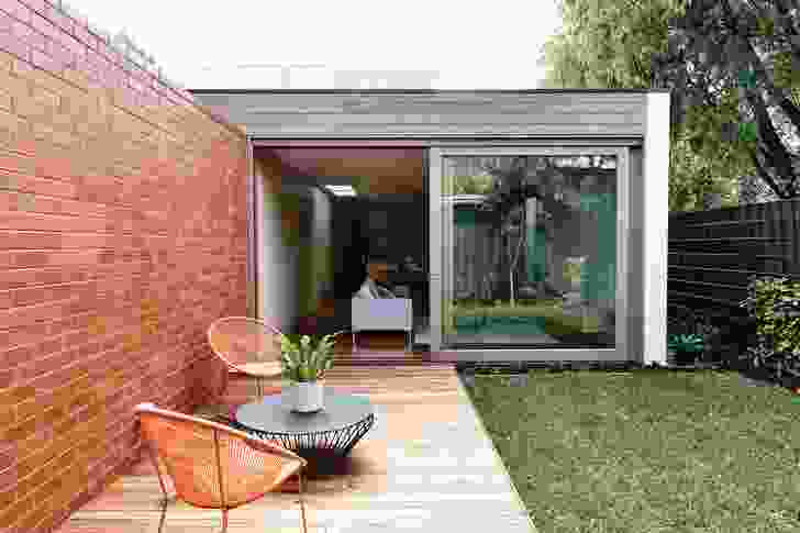 Each home opens onto a little private oasis out the back, via sliding doors.