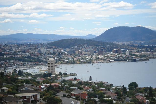 View of Hobart's CBD.