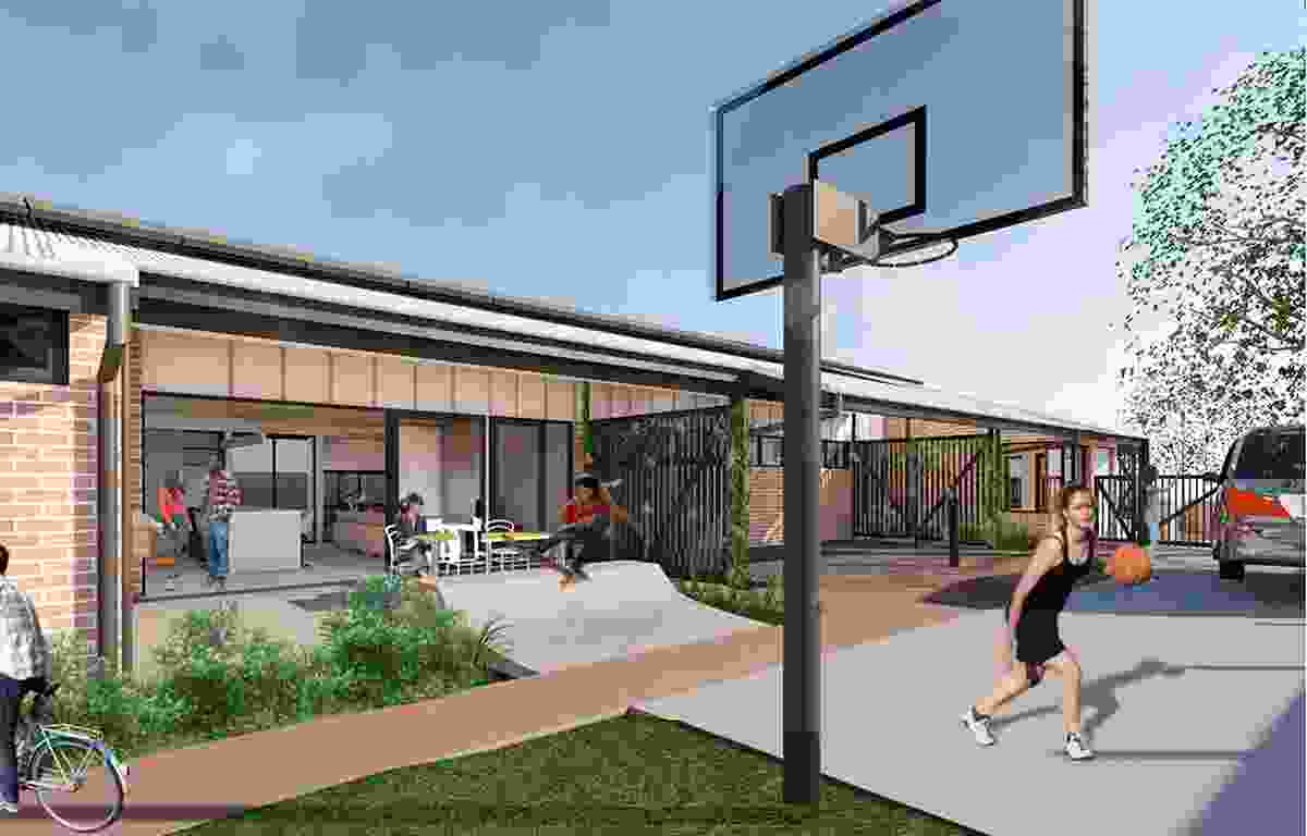 A proposed youth shelter social housing demonstration project in Hervey Bay by Push Architecture.