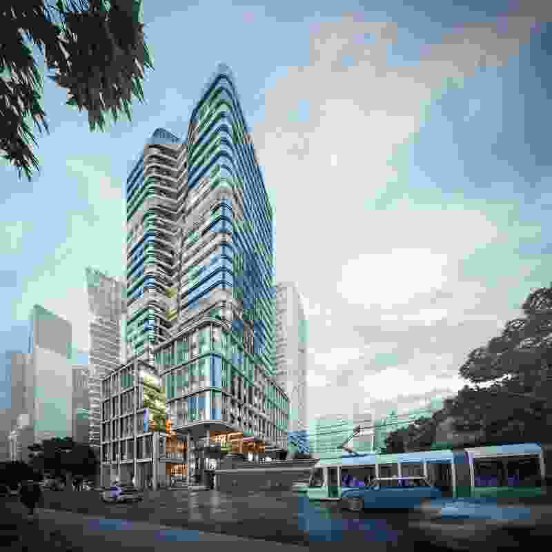 The proposed tower at 383 La Trobe Street by Cox Architecture.