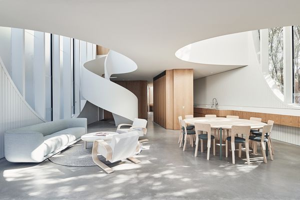 From the spiral stairs to elongated voids, each element is integral to the home's functionality and the design intent.