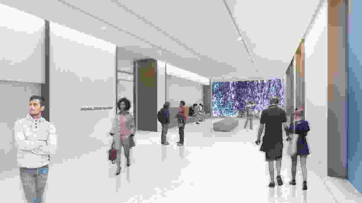 Proposed galleries in the State Library of NSW designed by Hassell.