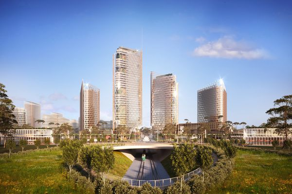 The proposed Word Trade Centre Sydney development masterplanned by Woods Bagot.